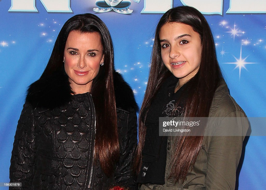 TV personality Kyle Richards (L) and daughter Sophia Umansky attend the opening night of Disney On Ice's 'Dare To Dream' at LA Kings Holiday Ice at L.A. LIVE on December 12, 2012 in Los Angeles, California.