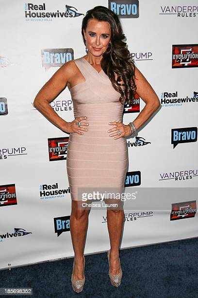 TV personality Kyle Richards arrives at 'The Real Housewives Of Beverly Hills' and 'Vanderpump Rules' premiere party at Boulevard3 on October 23 2013...