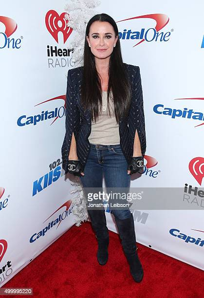 TV personality Kyle Richards attends 1027 KIIS FM's Jingle Ball 2015 Presented by Capital One at STAPLES CENTER on December 4 2015 in Los Angeles...
