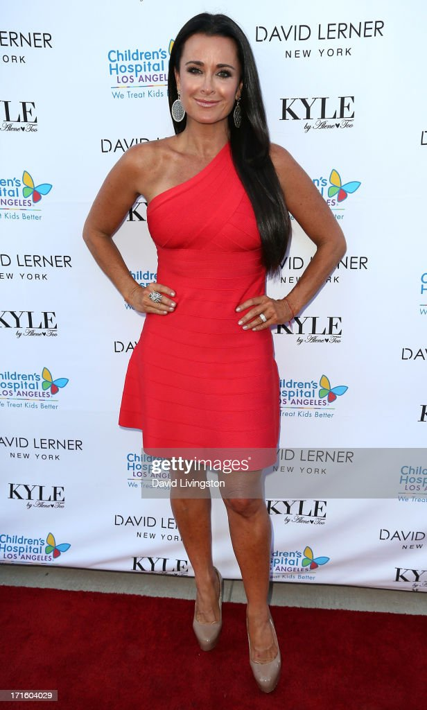 TV personality <a gi-track='captionPersonalityLinkClicked' href=/galleries/search?phrase=Kyle+Richards&family=editorial&specificpeople=2586434 ng-click='$event.stopPropagation()'>Kyle Richards</a> attends a fashion fundraiser benefitting Children's Hospital of Los Angeles hosted by <a gi-track='captionPersonalityLinkClicked' href=/galleries/search?phrase=Kyle+Richards&family=editorial&specificpeople=2586434 ng-click='$event.stopPropagation()'>Kyle Richards</a> at Kyle by Alene Too on June 26, 2013 in Beverly Hills, California.