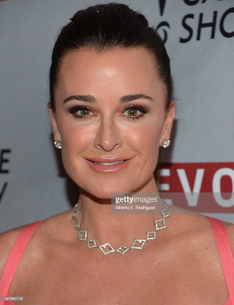 TV personality Kyle Richards attends REVOLT and The National Cable and Telecommunications Association's Celebration of Cable at Belasco Theatre on April 30, 2014 in Los Angeles, California.