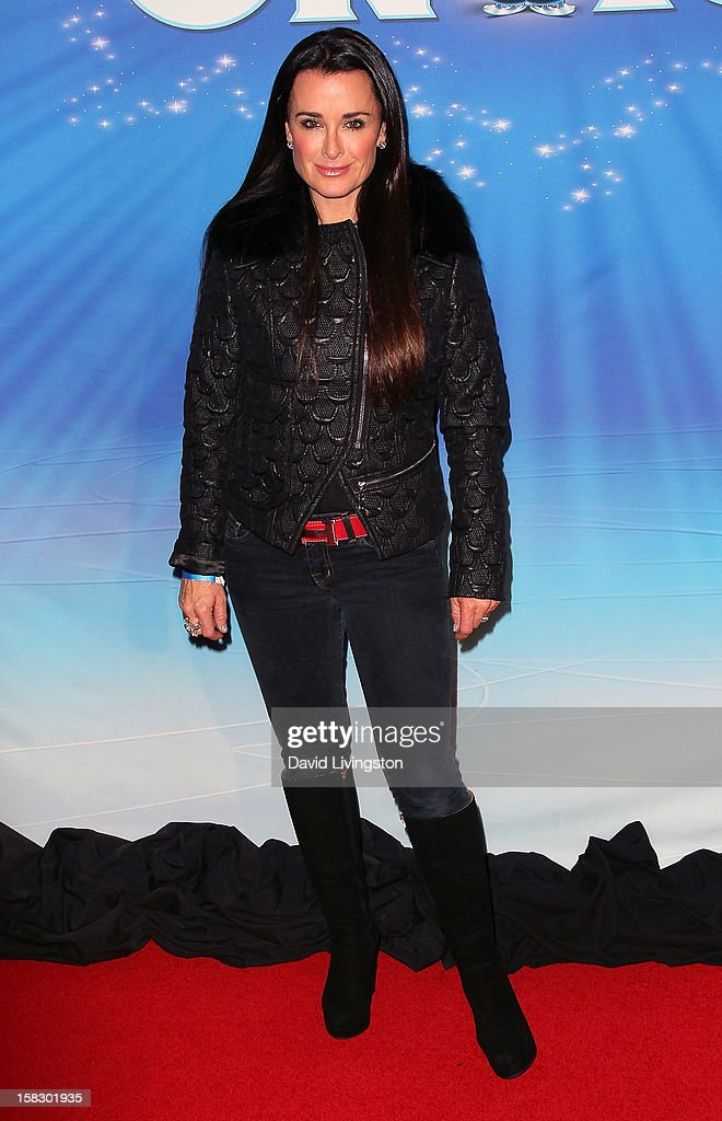 TV personality Kyle Richards attends the opening night of Disney On Ice's 'Dare To Dream' at LA Kings Holiday Ice at L.A. LIVE on December 12, 2012 in Los Angeles, California.