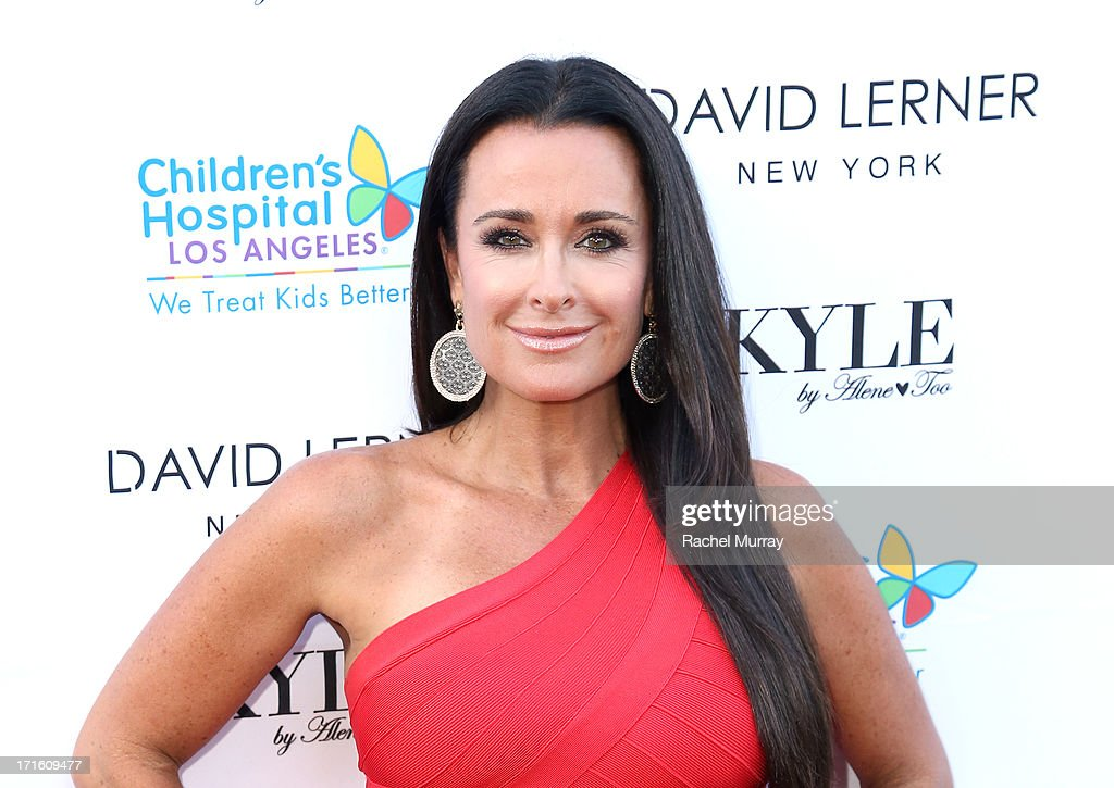 TV personality <a gi-track='captionPersonalityLinkClicked' href=/galleries/search?phrase=Kyle+Richards&family=editorial&specificpeople=2586434 ng-click='$event.stopPropagation()'>Kyle Richards</a> hosts a Fashion Fundraiser for Children's Hospital Los Angeles at Kyle By Alene Too on June 26, 2013 in Beverly Hills, California.