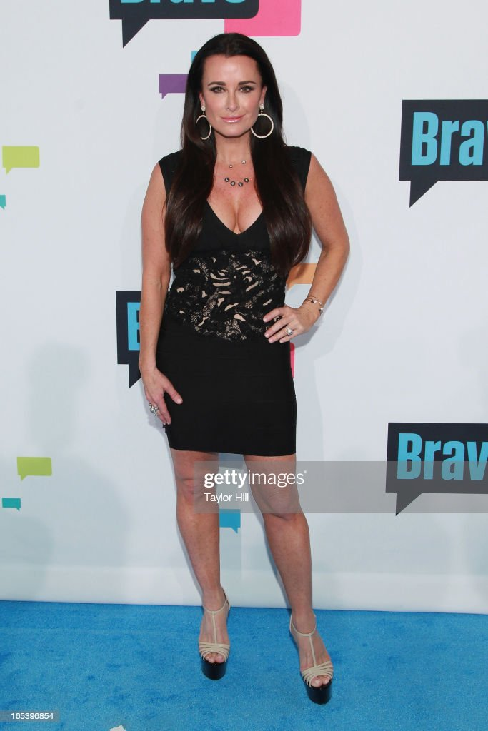 TV personality Kyle Richards of 'The Real Housewives of Beverly Hills' attends the 2013 Bravo Upfront at Pillars 37 Studios on April 3, 2013 in New York City.