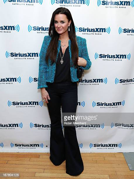 Personality Kyle Richards visits at SiriusXM Studios on April 30 2013 in New York City