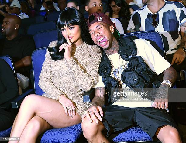 TV personality Kylie Jenner and rapper Tyga attend the 2015 MTV Video Music Awards at Microsoft Theater on August 30 2015 in Los Angeles California