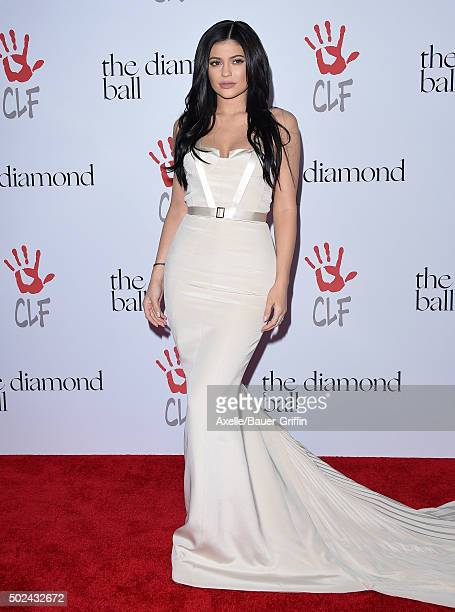 TV personality Kylie Jenner arrives at Rihanna and The Clara Lionel Foundation Host 2nd Annual Diamond Ball at The Barker Hanger on December 10 2015...