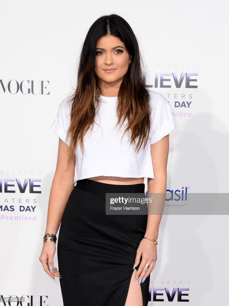 TV personality Kylie Jenner arrives at the premiere of Open Road Films' 'Justin Bieber's Believe' at Regal Cinemas L.A. Live on December 18, 2013 in Los Angeles, California.
