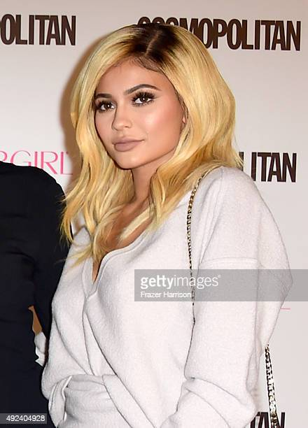 TV personality Kylie Jenner attends Cosmopolitan's 50th Birthday Celebration at Ysabel on October 12 2015 in West Hollywood California