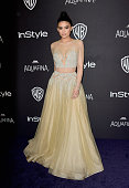 TV personality Kylie Jenner attends InStyle and Warner Bros 73rd Annual Golden Globe Awards PostParty at The Beverly Hilton Hotel on January 10 2016...