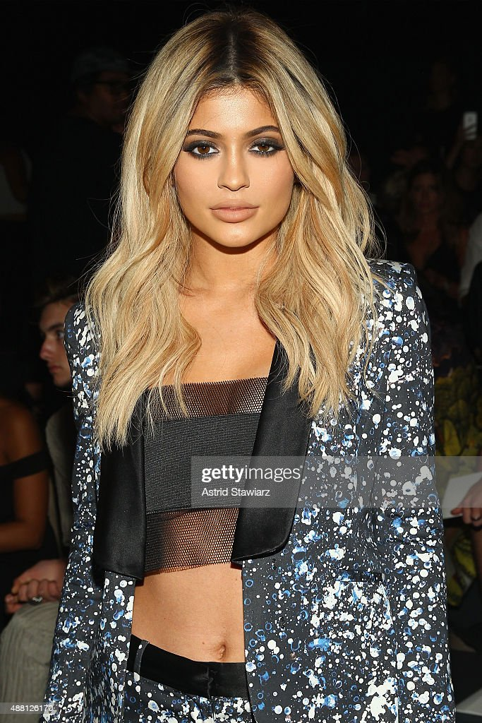 TV personality Kylie Jenner attends Prabal Gurung Spring 2016 during New York Fashion Week The Shows at The Arc Skylight at Moynihan Station on...