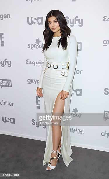 Personality Kylie Jenner attends the 2015 NBCUniversal Cable Entertainment Upfront at The Jacob K Javits Convention Center on May 14 2015 in New York...