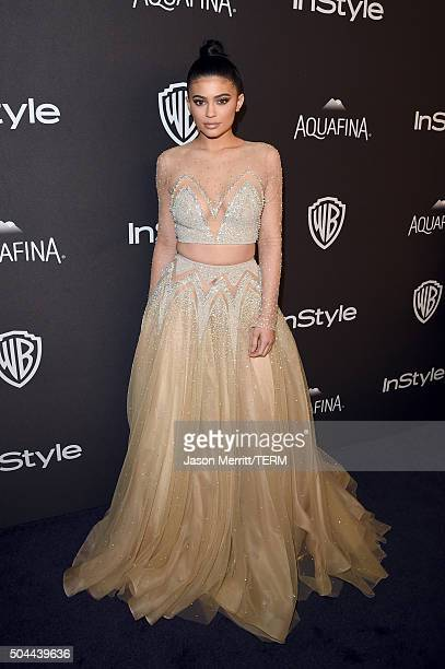 TV personality Kylie Jenner attends The 2016 InStyle And Warner Bros 73rd Annual Golden Globe Awards PostParty at The Beverly Hilton Hotel on January...