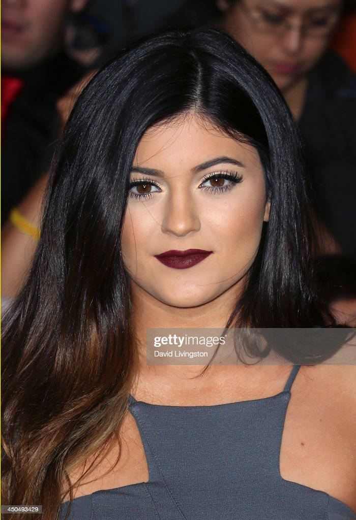 TV personality <a gi-track='captionPersonalityLinkClicked' href=/galleries/search?phrase=Kylie+Jenner&family=editorial&specificpeople=870409 ng-click='$event.stopPropagation()'>Kylie Jenner</a> attends the premiere of Lionsgate's 'The Hunger Games: Catching Fire' at Nokia Theatre L.A. Live on November 18, 2013 in Los Angeles, California.