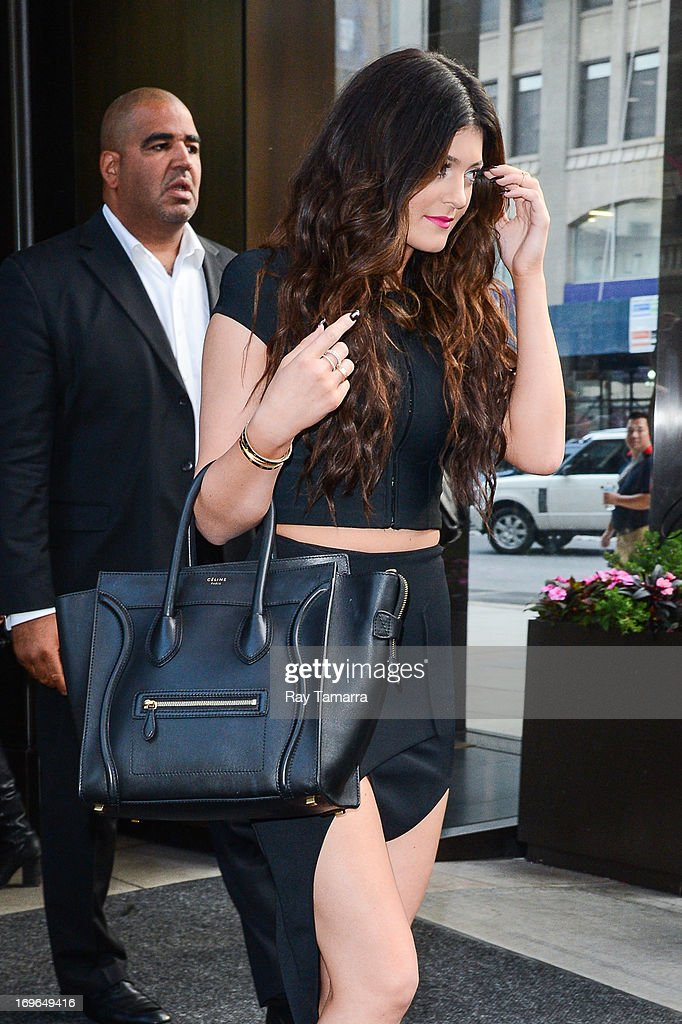 TV personality Kylie Jenner leaves her Soho hotel on May 29, 2013 in New York City.