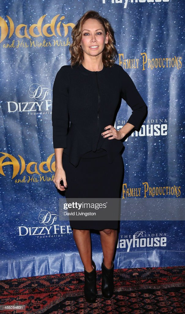 TV personality <a gi-track='captionPersonalityLinkClicked' href=/galleries/search?phrase=Kym+Johnson+-+Dancer&family=editorial&specificpeople=2577423 ng-click='$event.stopPropagation()'>Kym Johnson</a> attends 'Aladdin and His Winter Wish' opening night at the Pasadena Playhouse on December 11, 2013 in Pasadena, California.