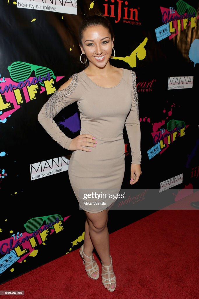 TV personality Kyra Batte arrives at iiJin's Spring/Summer 2014 'The Glamorous Life' clothing and footwear collection fashion show at Avalon on October 16, 2013 in Hollywood, California.