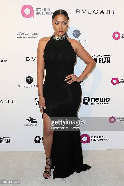 Personality La La Anthony attends the 24th Annual Elton John AIDS Foundation's Oscar Viewing Party on February 28 2016 in West Hollywood California
