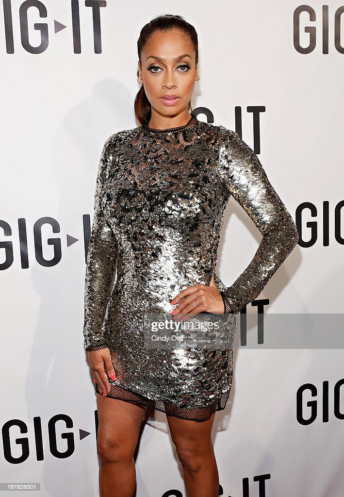 TV personality La La Anthony attends the Gig-It Launch Party at Capitale Bowery on April 30, 2013 in New York City.