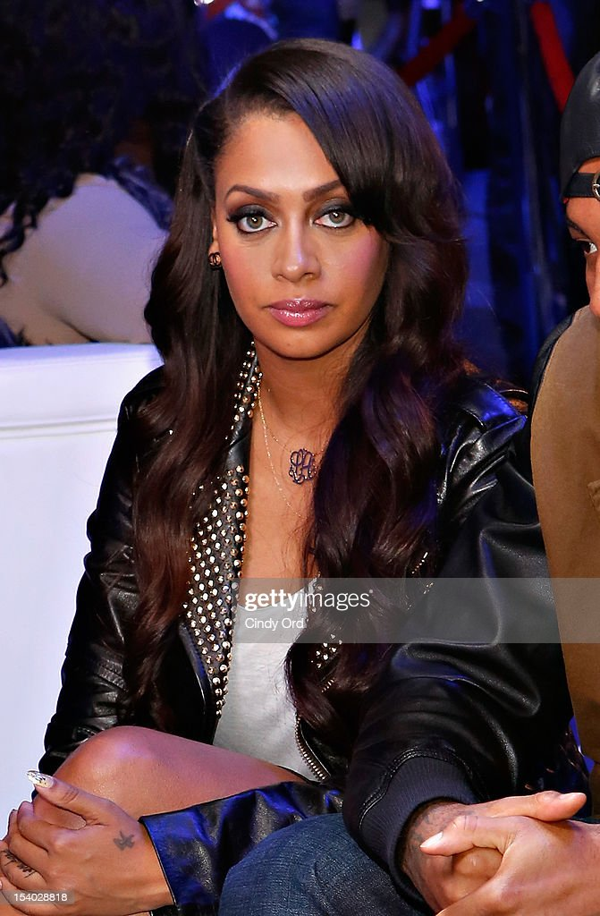TV personality <a gi-track='captionPersonalityLinkClicked' href=/galleries/search?phrase=La+La+Anthony&family=editorial&specificpeople=209433 ng-click='$event.stopPropagation()'>La La Anthony</a> attends the Rookie USA Flagship Store Opening at Rookie USA on October 12, 2012 in New York City.