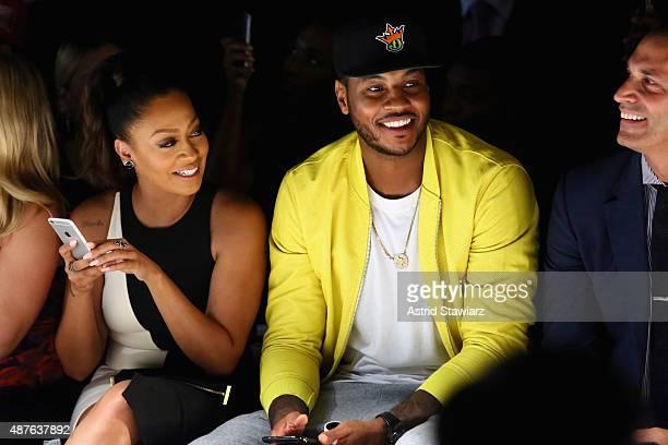 TV personality La La Anthony NBA player Carmelo Anthony and tv personality Nigel Barker attend the Kids Rock fashion show during Spring 2016 New York...