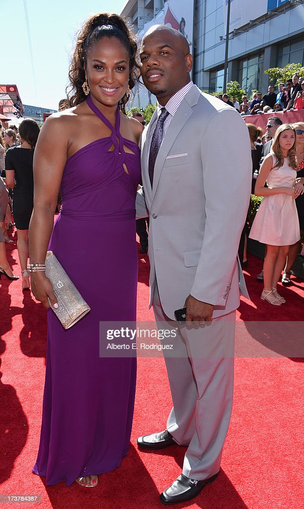 TV personality Laila Ali and husband former NFL Player Curtis Conway attend The 2013 ESPY Awards at Nokia Theatre LA Live on July 17 2013 in Los...