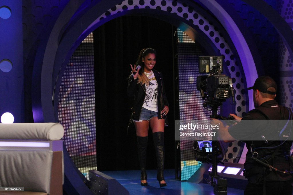 TV personality LaLa Vasquez visits 106 & Park at 106 & Park on September 23, 2013 in New York City.