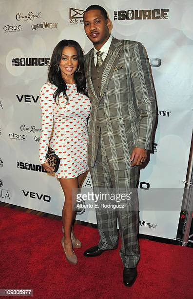 TV personality Lala Vazquez and NBA player Carmelo Anthony arrives to the National Basketball Players Association AllStar Gala on February 19 2011 in...