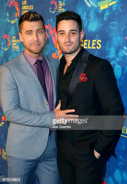 TV personality Lance Bass and actor Michael Turchin attend the Los Angeles LGBT Center 47th Anniversary Gala Vanguard Awards at Pacific Design Center...