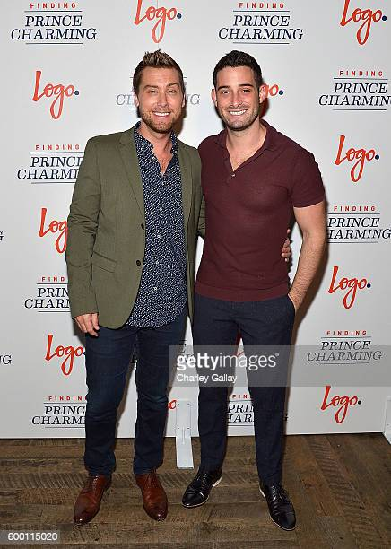 TV personality Lance Bass and Michael Turchin attend Logo's 'Finding Prince Charming' Premiere Screening And Reception at HYDE Sunset Kitchen...