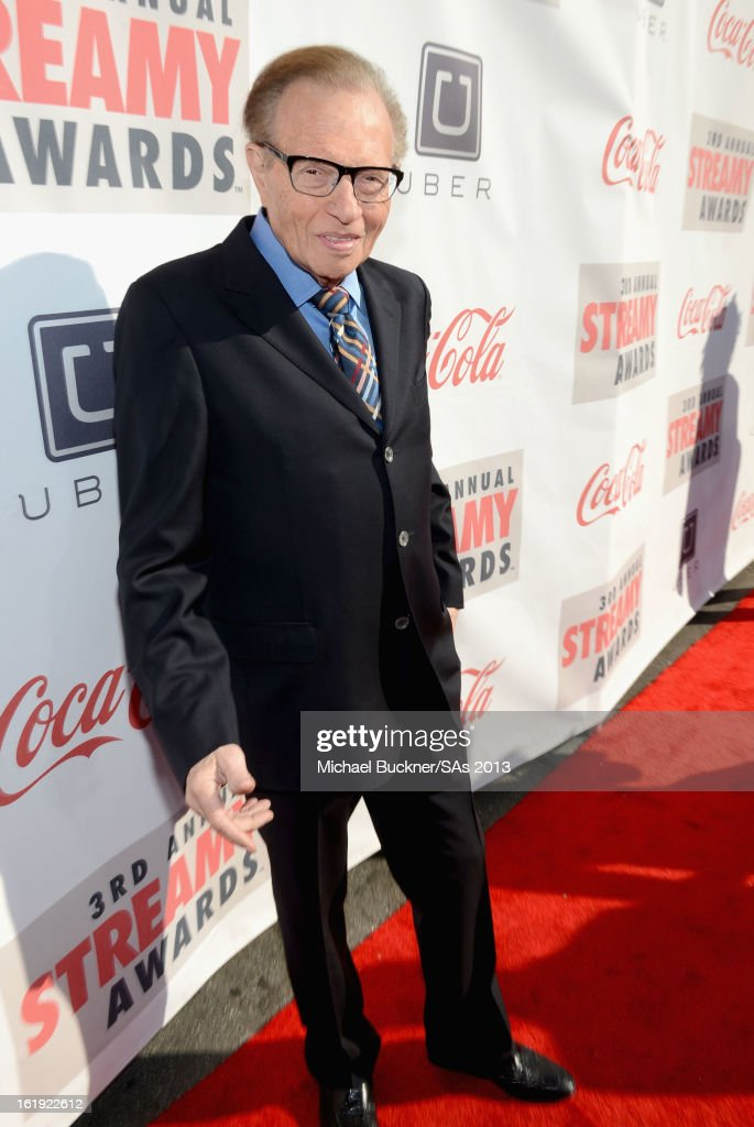 TV personality <a gi-track='captionPersonalityLinkClicked' href=/galleries/search?phrase=Larry+King&family=editorial&specificpeople=202014 ng-click='$event.stopPropagation()'>Larry King</a> attends the 3rd Annual Streamy Awards at Hollywood Palladium on February 17, 2013 in Hollywood, California.