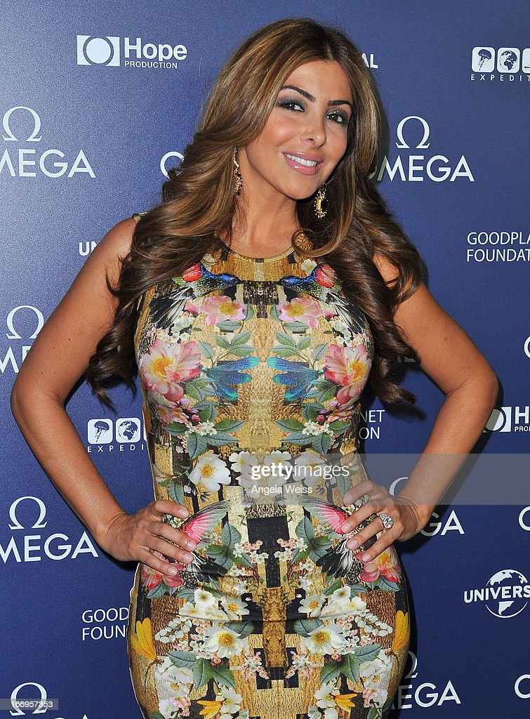 TV personality Larsa Pippen attends the US launch of 'Planet Ocean' presented by Omega Watches at Pacific Design Center on April 18, 2013 in West Hollywood, California.