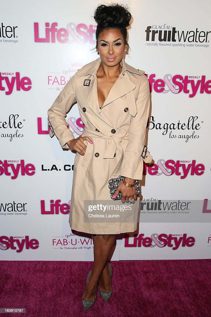 TV personality <a gi-track='captionPersonalityLinkClicked' href=/galleries/search?phrase=Laura+Govan&family=editorial&specificpeople=7646866 ng-click='$event.stopPropagation()'>Laura Govan</a> arrives at Life & Style's Hollywood in Bright Pink event hosted by Giuliana Rancic at Bagatelle on October 9, 2013 in Los Angeles, California.