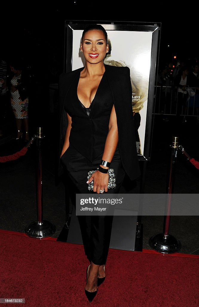 TV personality Laura Govan arrives at the Los Angeles premiere of '12 Years A Slave' at Directors Guild Of America on October 14, 2013 in Los Angeles, California.