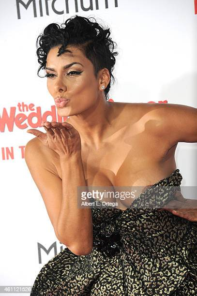 TV personality Laura Govan arrives for the Premiere Of Screen Gems' 'The Wedding Ringer' held at TCL Chinese Theatre on January 6 2015 in Hollywood...