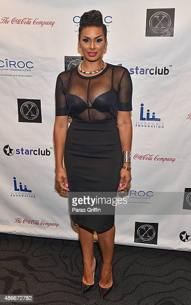 TV personality Laura Govan attends LudaDay 'The Red Napkin' Dinner at CocaCola Headquarters on September 4 2015 in Atlanta Georgia