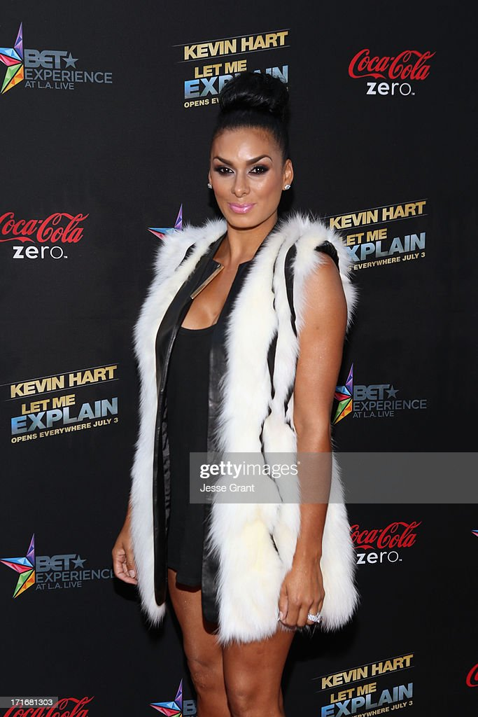 TV Personality Laura Govan attends Movie Premiere 'Let Me Explain' with Kevin Hart during the 2013 BET Experience at Regal Cinemas L.A. Live on June 27, 2013 in Los Angeles, California.