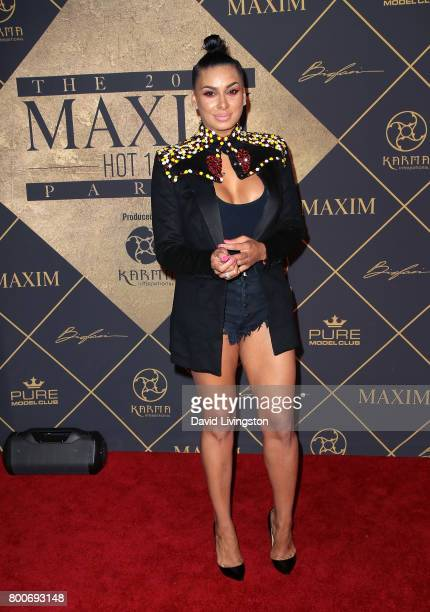 TV personality Laura Govan attends the 2017 MAXIM Hot 100 Party at the Hollywood Palladium on June 24 2017 in Los Angeles California