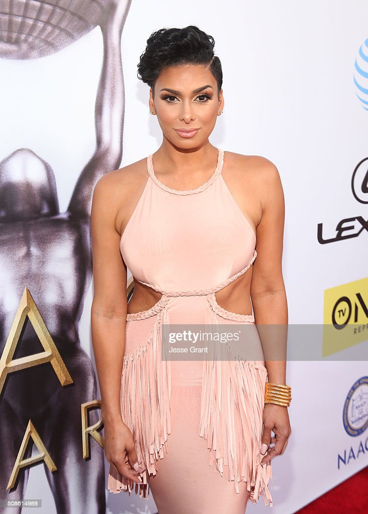 TV personality <a gi-track='captionPersonalityLinkClicked' href=/galleries/search?phrase=Laura+Govan&family=editorial&specificpeople=7646866 ng-click='$event.stopPropagation()'>Laura Govan</a> attends the 47th NAACP Image Awards presented by TV One at Pasadena Civic Auditorium on February 5, 2016 in Pasadena, California.