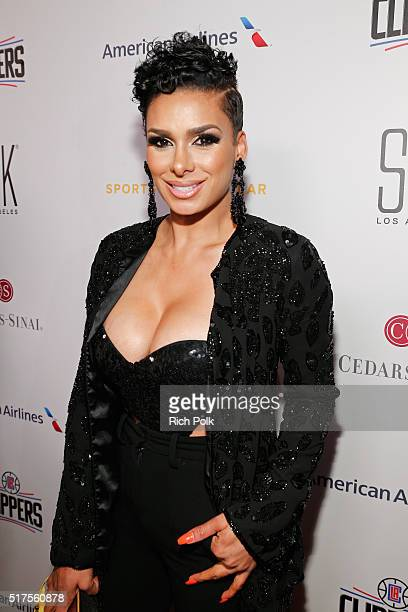 TV personality Laura Govan attends the CedarsSinai Sports Spectacular at W Los Angeles – West Beverly Hills on March 25 2016 in Los Angeles California