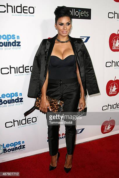 TV personality Laura Govan attends the CP3 Foundation celebrity server dinner at Mastro's Steakhouse on October 26 2014 in Beverly Hills California