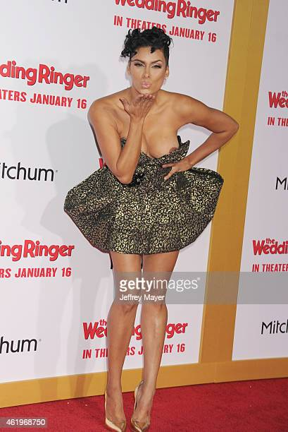 TV personality Laura Govan attends the world premiere of 'The Wedding Ringer' at TCL Chinese Theatre on January 6 2015 in Hollywood California
