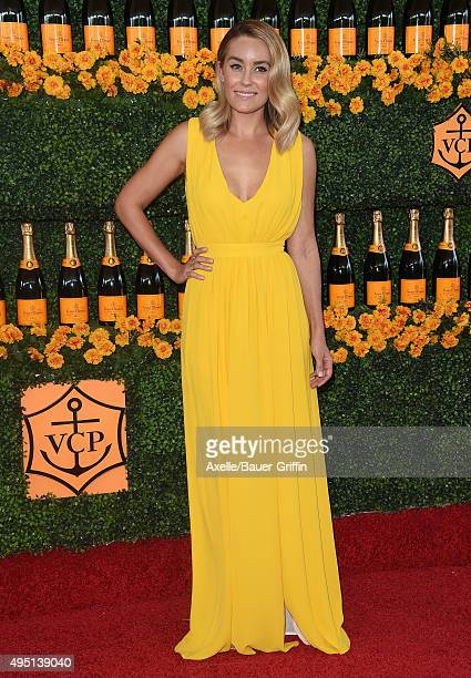 TV personality Lauren Conrad arrives at the SixthAnnual Veuve Clicquot Polo Classic Los Angeles at Will Rogers State Historic Park on October 17 2015...