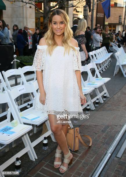 TV personality Lauren Conrad attended designer Rebecca Minkoff's Spring 2017 'See Now Buy Now' Fashion Show at The Grove on February 4 2017 in Los...