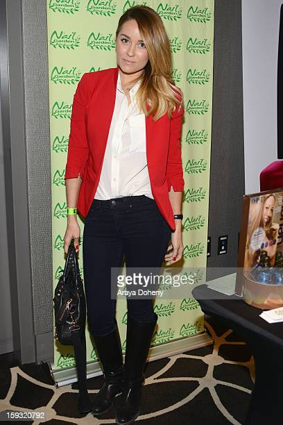 TV personality Lauren Conrad attends Kari Feinstein's PreGolden Globes Style Lounge at the W Hollywood on January 11 2013 in Hollywood California