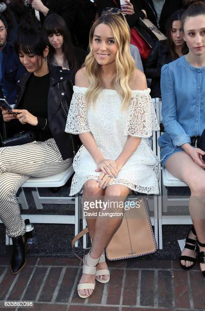 TV personality Lauren Conrad attends Rebecca Minkkoff's 'See Now Buy Now' fashion show at The Grove on February 4 2017 in Los Angeles California