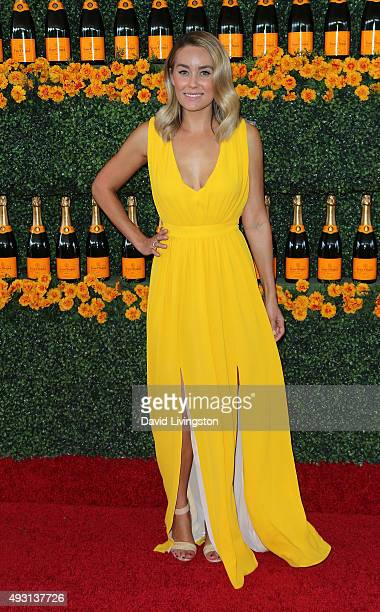 TV personality Lauren Conrad attends the SixthAnnual Veuve Clicquot Polo Classic Los Angeles at Will Rogers State Historic Park on October 17 2015 in...
