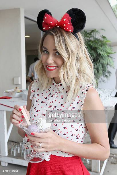 Personality Lauren Conrad hosts an ice cream social to debut her new Minnie Mouse Collection available exclusively at Kohl's on May 14 2015 in...