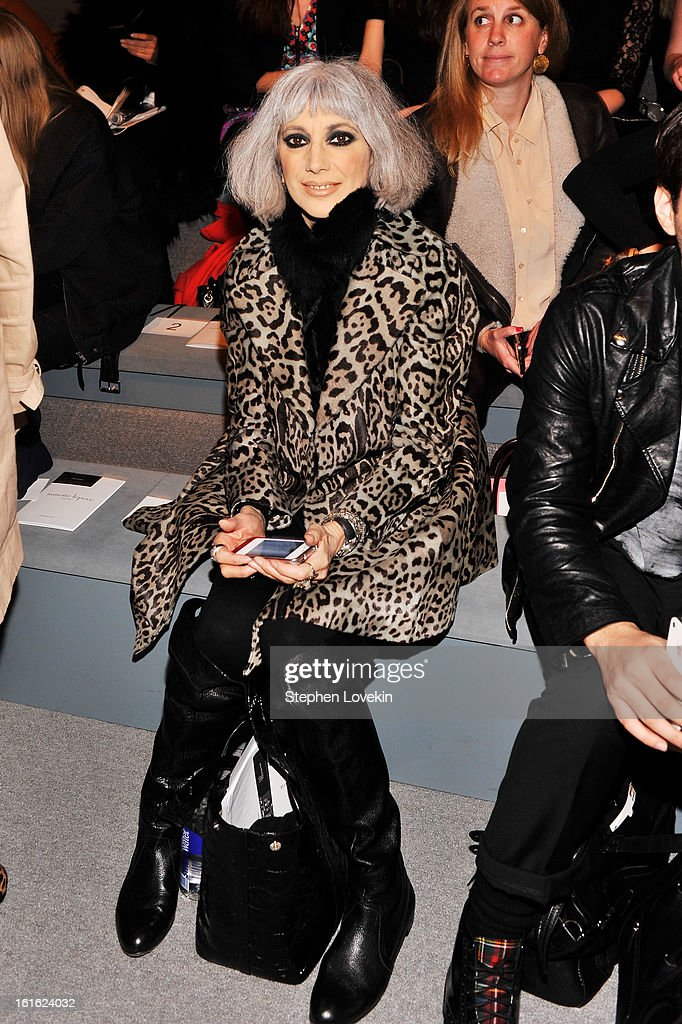 TV personality Lauren Ezersky attends the Nanette Lepore Fall 2013 fashion show during Mercedes-Benz Fashion Week at The Stage at Lincoln Center on February 13, 2013 in New York City.
