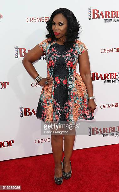 TV personality Lauren Lake attends the premiere of New Line Cinema's 'Barbershop The Next Cut' at the TCL Chinese Theatre on April 6 2016 in...